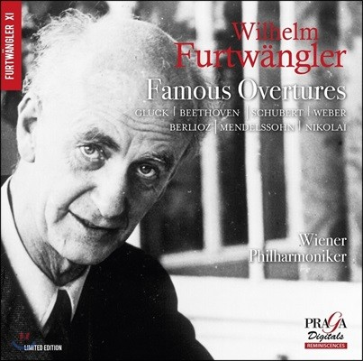 Wilhelm Furtwangler 빌헬름 푸르트뱅글러 - 인기 서곡집: 글룩 / 베토벤 / 슈베르트 / 베버 / 베를리오즈 외 (Famous Overtures)
