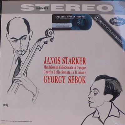 멘델스존 : 첼로 소나타 2번 & 쇼팽 : 첼로 소나타 Op,65 (Mendelssohn : Sonata for Cello and Piano No.2, Op.58) (LP) - Janos Starker