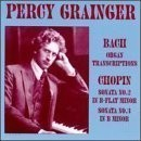 Percy Grainger / 퍼시 그레인저 - 바흐, 쇼팽 : 피아노 작품집 (수입/미개봉/LHW010)
