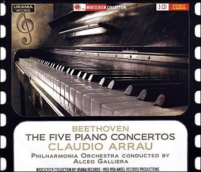 베토벤 : 피아노 협주곡 전곡, 소나타 28번, 31번 - 아라우, 갈리에라