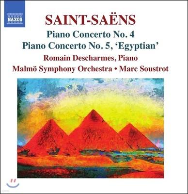 Romain Descharmes 생상스: 피아노 협주곡 4번, 5번 '이집트' (Saint-Saens: Piano Concertos Op.44 & Op.103 'Egyptian')