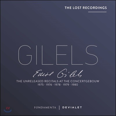 Emil Gilels 에밀 길렐스 - 콘세르헤보우 미공개 리사이틀 실황 (The Lost Recordings - The Unreleased Recitals at the Concertgebouw)