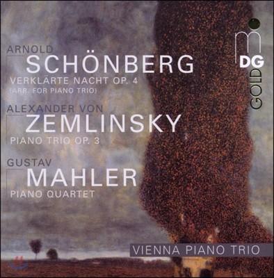 Vienna Piano Trio 쇤베르크: 정화된 밤 / 쳄린스키: 피아노 삼중주 / 말러: 피아노 사중주 (Schonberg: Verklarte Nacht, Op. 4 / Zemlinsky: Piano Quartet / Mahler: Trio, Op. 3)