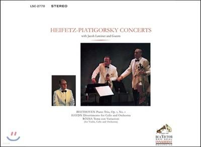 Jascha Heifetz / Gregor Piatigorsky 베토벤: 피아노 삼중주 / 하이든: 첼로 디베르티멘토 / 로자: 변주곡