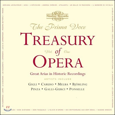 오페라 아리아 명연주 1집 (The Prima Voce Treasury of Opera, Volume 1 - Great Arias in Historic Recordings)