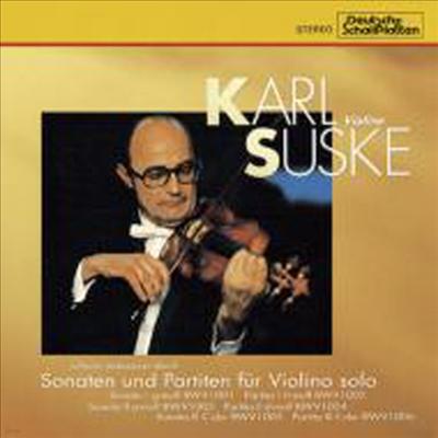 바흐 : 무반주 바이올린 소나타와 파르티타 (Bach : Sonatas And Partitas For Solo Violin BWV1001-1006) (2CD) (일본반) - Karl Suske