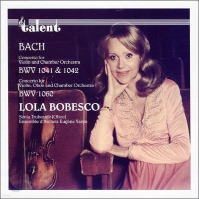 Lola Bobesco 바흐: 바이올린 협주곡집 (Bach: Concerto for Violin BWV 1041, 1042) 롤라 보베스코 [LP]
