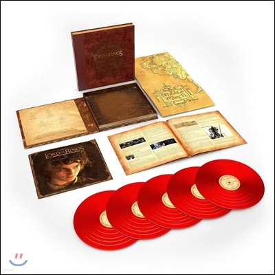 반지의 제왕: 반지 원정대 영화음악 전곡 (The Lord Of The Rings: The Fellowship Of The Ring - The Complete Recordings by Howard Shore) [레드 컬러 5 LP]