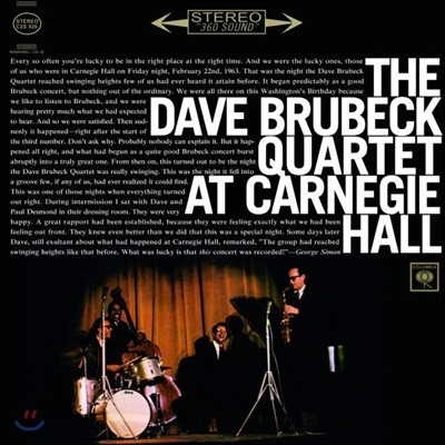 The Dave Brubeck Quartet (데이브 브루벡 쿼텟) - At Carnegie Hall [2LP]