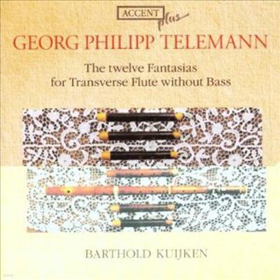 텔레만 : 12개 무반주 플루트 환타지아 (트라베소 플루트 버전) (Telemann : The twelve Fantasias for Transverse Flute without Bass) - Barthold Kuijken