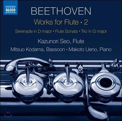 Kazunori Seo 베토벤 : 플루트 작품 2집 - 플루트와 피아노를 위한 세레나데, 플루트 소나타 외 (Beethoven: Works For Flute 2)