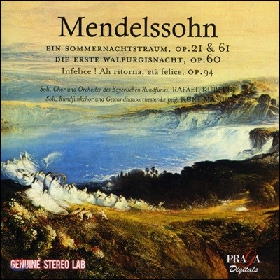 Rafael Kubelik / Kurt Masur 멘델스존: 한여름 밤의 꿈, 첫번째 발푸르기스의 밤 Op. 60 (Mendelssohn: Ein Sommernachtstraum, Op. 21 & 61, Die Erste Walpurgisnacht, Op. 60)