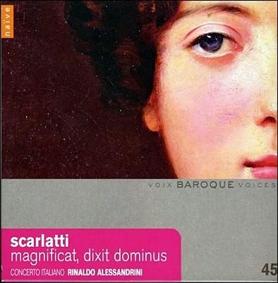 Rinaldo Alessandrini 스카를라티: 마그니피카트, 딕시트 도미누스, 마드리갈 - 알레산드리니 (Alessandro Scarlatti : Magnificat, Dixit Dominus)