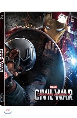 캡틴 아메리카: 시빌 워 (2Disc 3D+2D 렌티큘러 풀슬립 스틸북 한정판) : 블루레이