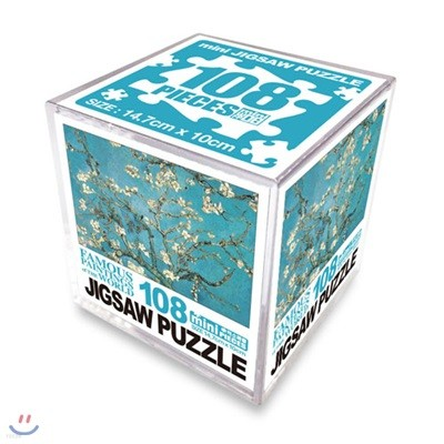 명화 직소퍼즐 108 미니큐브 꽃피는 아몬드나무