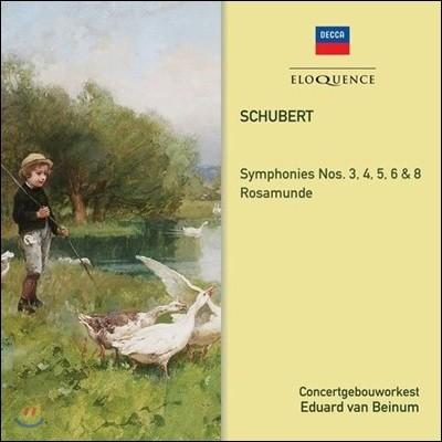 Eduard van Beinum 슈베르트: 교향곡 3, 4, 5, 6, 8번 (Schubert: Symphonies Nos. 3, 4, 5, 6 & 8)