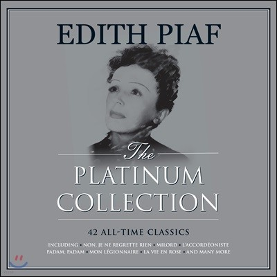 Edith Piaf (에디뜨 피아프) - The Platinum Collection [화이트 컬러 3LP]