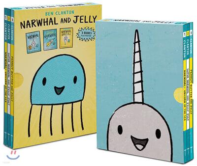외뿔고래와 해파리 원서 페이퍼백 3종 세트 Narwhal and Jelly Collection 1-3 Box Set