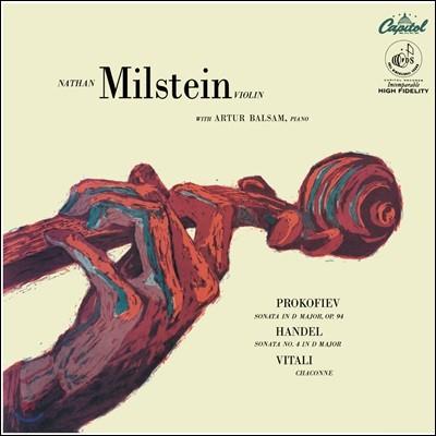 Nathan Milstein 비탈리: 샤콘느 / 헨델 & 프로코피예프: 바이올린 소나타 (Vitali: Chaconne)[LP]