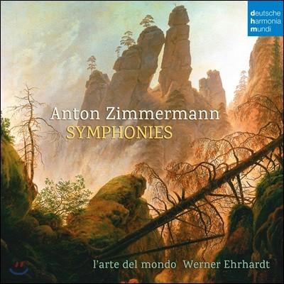 Werner Ehrhardt 안톤 짐머만: 교향곡집 (Anton Zimmermann: Symphonies)