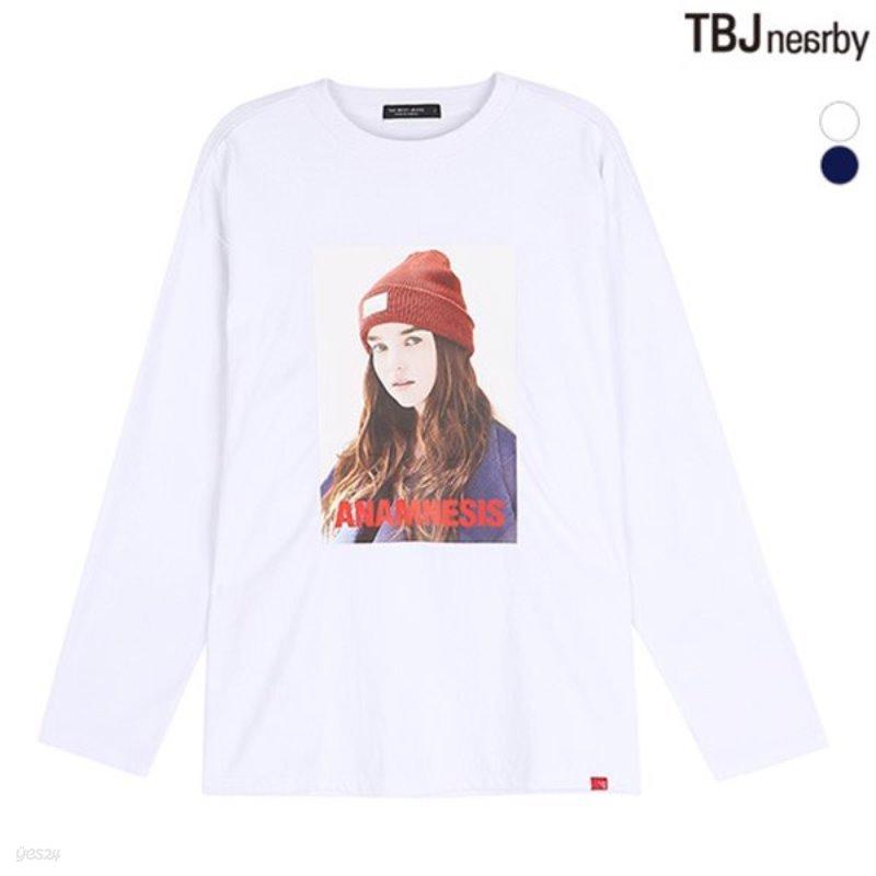 [TBJ]여성 16수 싱글 전사프린트 7부 티셔츠(T183TS500P)
