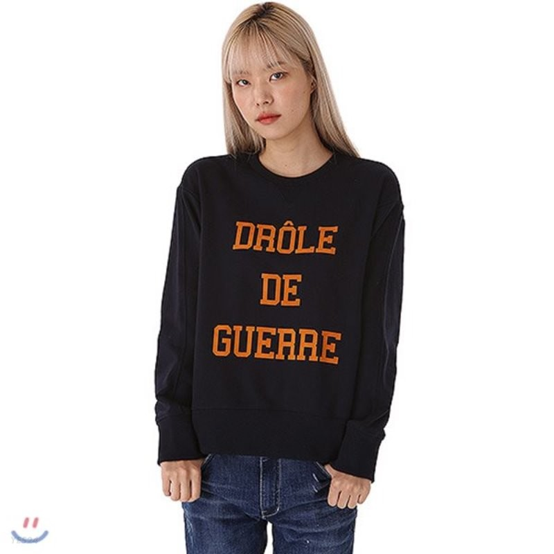 [TBJ]여성 3단쭈리 제기장 레터링 맨투맨 티셔츠(T183TS700P)