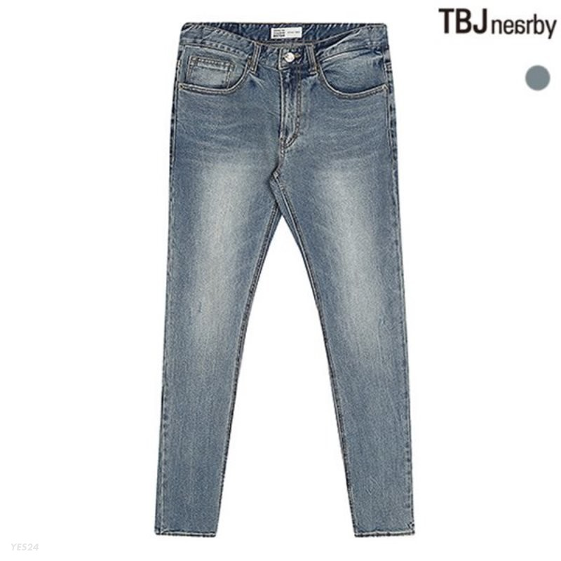 [TBJ]유니 테이퍼드 M톤 레트로 데님(T185DP213P)