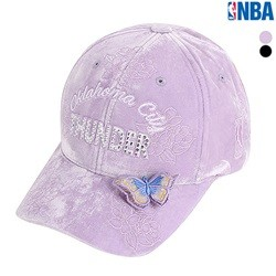 [NBA]OKC THUNDER 플라워자수 HARD CURVED CAP(N185AP424P)