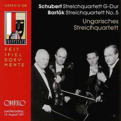 바르톡: 현악 사중주 5번 & 슈베르트: 현악 사중주 15번 (Bartok: String Quartet No.5 & Schubert: String Quartet No.15) - Hungarian String Quartet