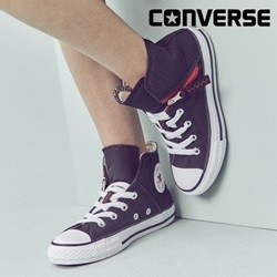 [컨버스키즈] CTAS PULL-ZIP HI BLACK/EMERALD RED WHITE 661846C (키즈)