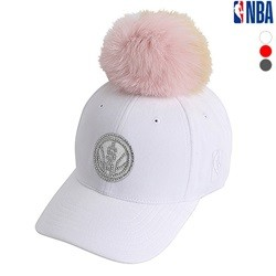 [NBA]SAS SPURS 폼폼 장식 HARD CURVED CAP(N185AP188P)