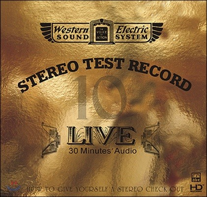Western Electric Sound : Live 10 - 30 Minutes' Audio Test CD