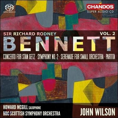 John Wilson 리차드 로드니 베네트: 관현악 작품 2집 - 스탄 겟츠 협주곡, 교향곡 2번 (Richard Rodney Bennett: Orchestral Works, Vol. 2)