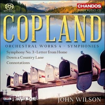 John Wilson 코플랜드: 관현악 작품집 4집 (Copland: Orchestral Works vol. 4 -  Symphonies) 존 윌슨
