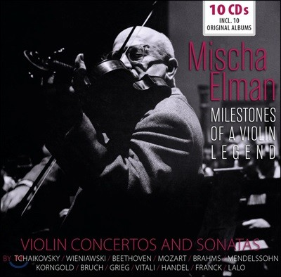 Mischa Elman 미샤 엘만 협주곡, 소나타 명연집 (Mischa Elman - Violin Concertos And Sonatas) [10CD Boxset]