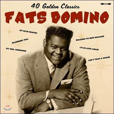Fats Domino - 40 Golden Classics 패츠 도미노 베스트 앨범 [2LP]