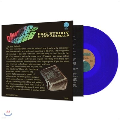 Eric Burdon & The Animals (에릭 버든 앤 애니멀스) - Winds of Change [블루 컬러 LP]