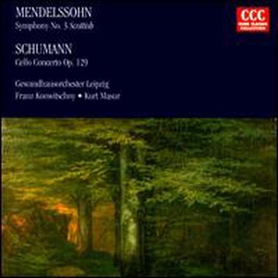 멘델스존: 교향곡 4번, 슈만: 첼로 협주곡 (Mendelssohn: Symphony No.3, Schumann: Cello Concerto) - Franz Konwitschny