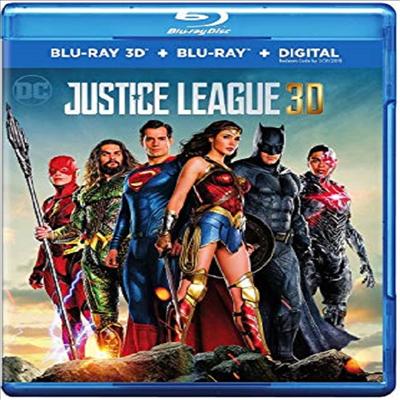 Justice League (저스티스 리그) (2017)(한글무자막)(3D Blu-ray)