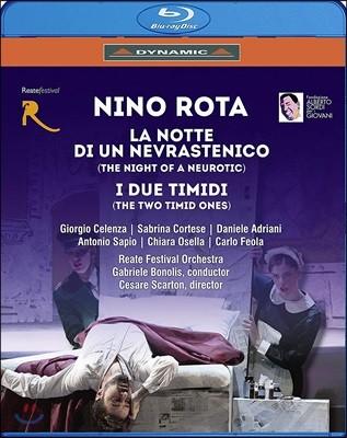 Gabriele Bonolis 니노 로타: 잠 못 이루는 밤, 어리숙한 두 사람 (Rota: La notte, di un di un Nevrastenico) [Blu-ray]