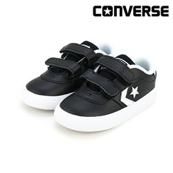 [컨버스키즈] POINT STAR 2V OX BLACK WHITE WHITE 763768C (토들러)