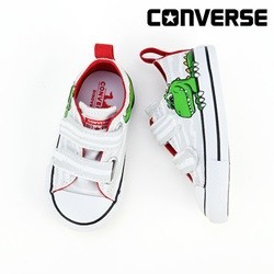 [컨버스키즈] CTAS 2V OX WHITE/MOUSE/ENAMEL RED 763573C (토들러)