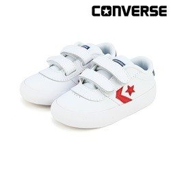 [컨버스키즈] POINT STAR 2V OX WHITE ENAMEL RED NAVY 763770C (토들러)