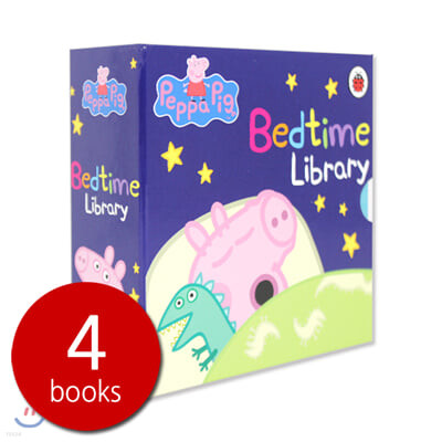 Peppa Pig Bedtime Library 4 Set : 페파피그 베드타임 라이브러리 보드북 4권 세트