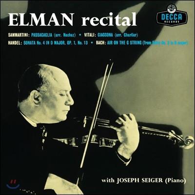 Mischa Elman 미샤 엘만 바이올린 연주집 (Recital) [LP]