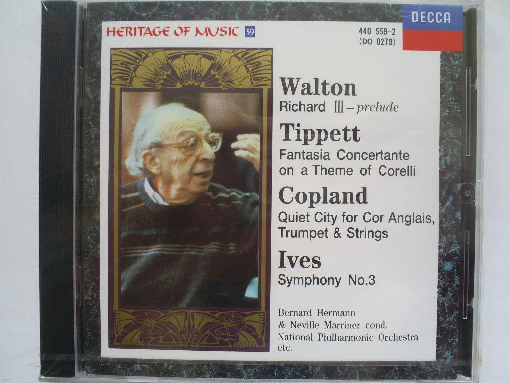 월튼, 티페트, 코플랜드, 아이브즈: 리차드 3세, 교향곡 제3번 외 - 헤르만 / 마리너
