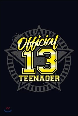 Official Teenagar 13: Lined Journal Notebook for Writing Teenage Ideas and Activities . Great for Notetaking and Composition