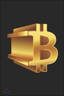 Btc Notebook: Small Bitcoin Gold & Black Notebook to Write in (6 X 9)