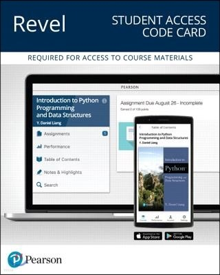 Revel for Introduction to Python Programming and Data Structures Access Card