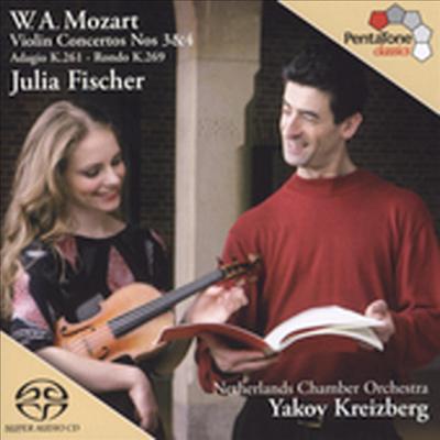 모차르트 : 바이올린 협주곡 3, 4번 (Mozart : Violin Concerto No.3 K.216, No.4 K.218) (SACD Hybrid) - Julia Fischer